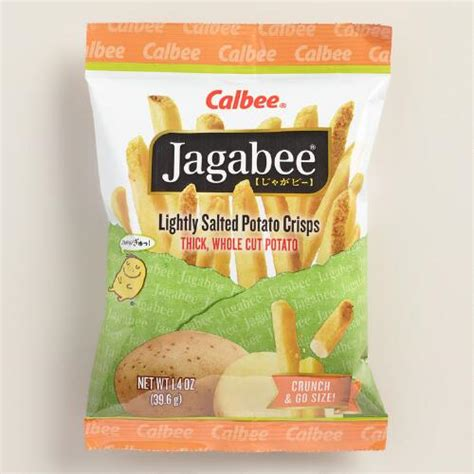 Calbee Jagabee And Jagariko Potato calbee jagabee lightly salted potato crisps set of 8 world market