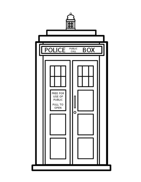 tardis colouring coloring page doctor who by lyssagal