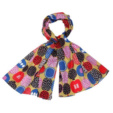 marimekko kompotti multicolor scarf marimekko scarves