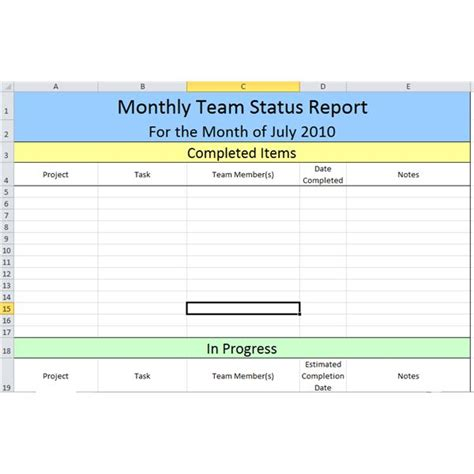 employee status report template employee status report template pictures