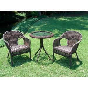 bistro patio furniture chelsea 3 wicker patio bistro furniture set target