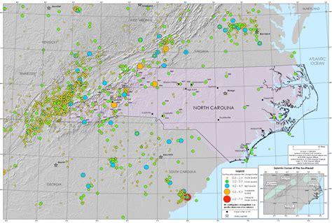 Earthquake North Carolina | faults and earthquakes western north carolina vitality index