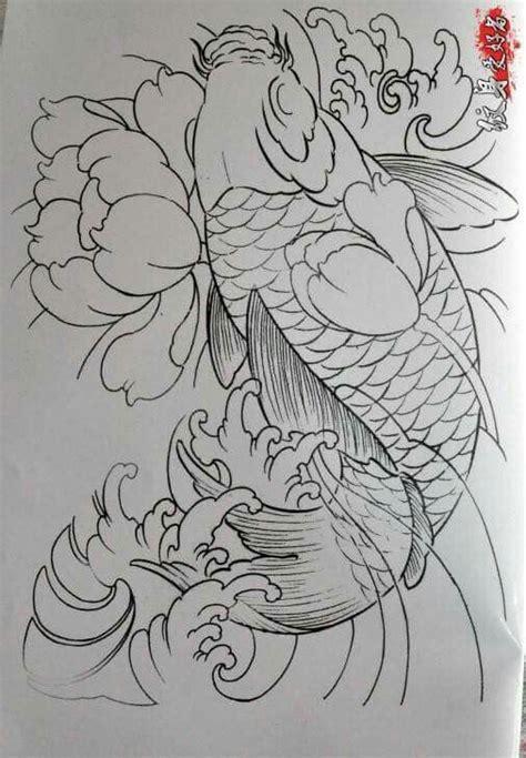 sket tattoo ikan koi sket tsto tattoos koi pinterest 문신 용 및 꽃그림