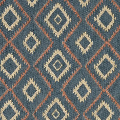 Style Upholstery Fabric by Blue Salmon And Beige Southwest Style Upholstery