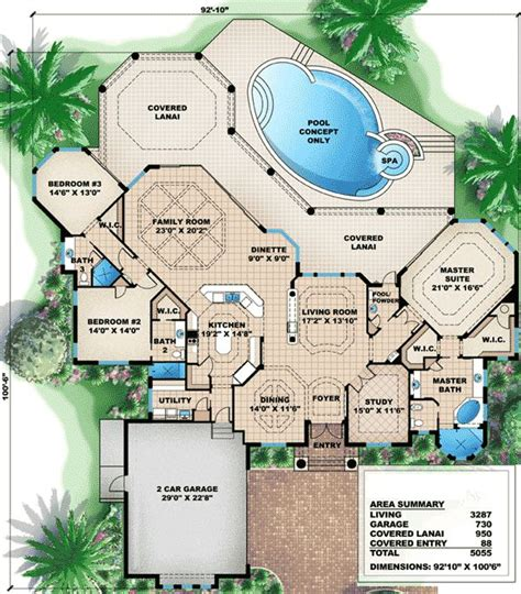 floor plan of big brother house house plan with great outdoor spaces