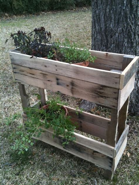 Pallet Planters For Sale by Pallet Wood Herb Planter Micro Homesteading