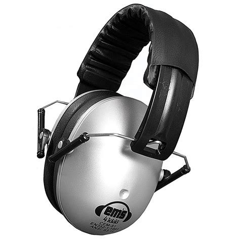 Ems 4 Silver maxiaids ems 4 folding hearing protection earmuffs silver