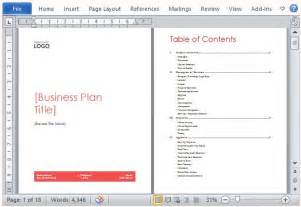 Sle Business Plan Template Word by Business Plan Template Word Free Business Template