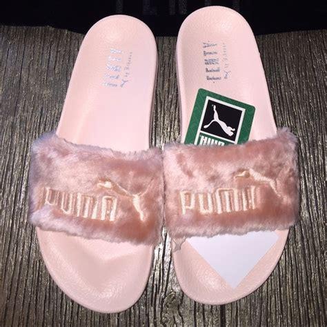 Sandal Fur Slide Fenty Rihana Pink 22 shoes rihanna leadcat fenty pink fur slide sandal from nunu s closet on poshmark