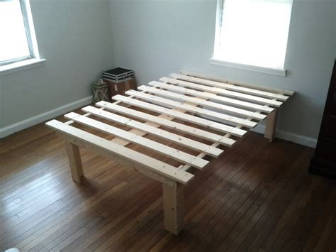 make bed higher diy platform bed i was only allowed one pallet project in