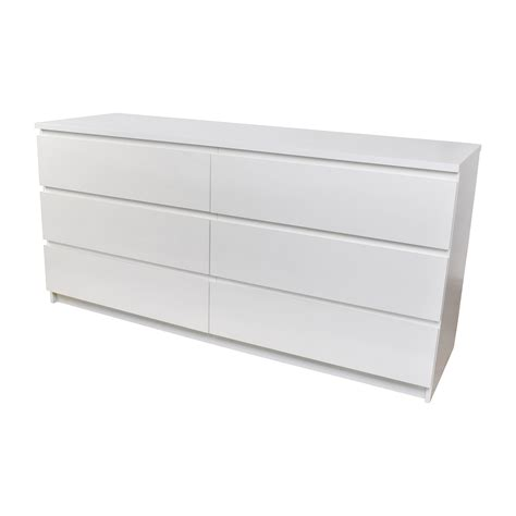 used ikea furniture 26 off ikea ikea malm 6 drawer white dresser storage