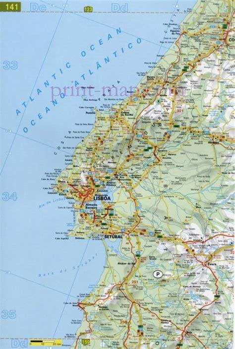printable portugal road map setubal map