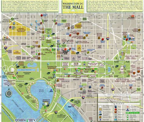 washington dc map of attractions roets uprooted washington d c the official tour
