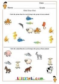 circle water animals and farm animals worksheet for kids