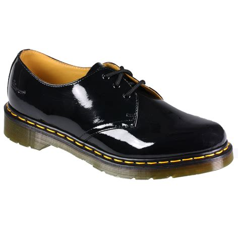 womens dr martens shoes womens dr martens 1461 patent leather lace up black