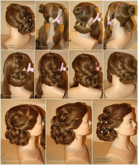 diy easy hairstyles step by step holiday hairstyle step by step diy craft projects