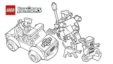 lego junior coloring pages lego 10675 police the big escape 1 coloring sheet