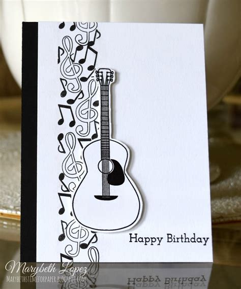 guitar birthday card template notes birthday card marybethstimeforpaper
