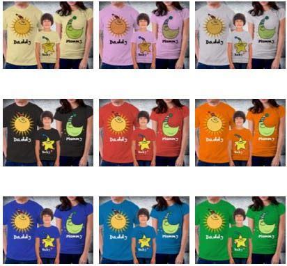 Kaos Family Nsun jual kaos keluarga tambahan koleksi design kaos