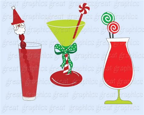 41 Holiday Cocktail Party Clip Art