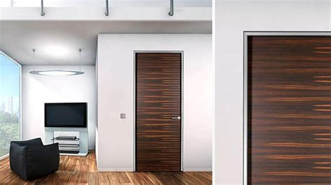 contemporary door trim frameless wood interior doors by bartel dream home