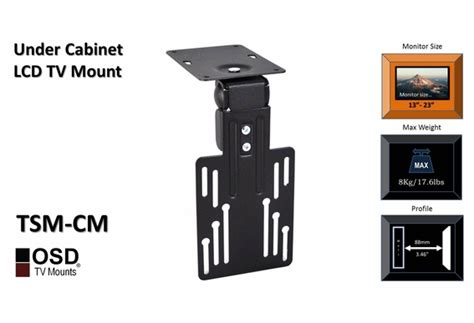 swivel cabinet tv mount 13 quot 23 quot osd tsm cm