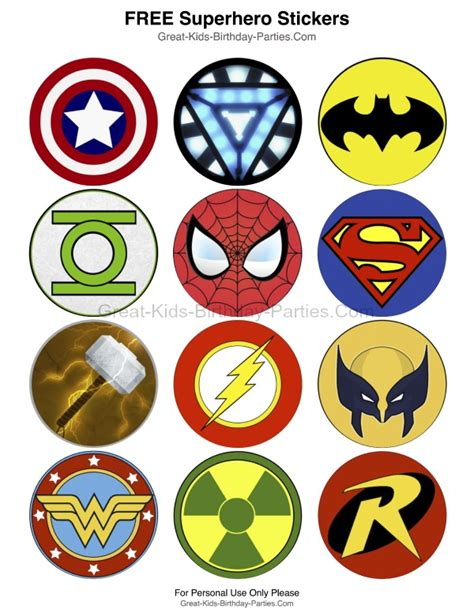 superhero activities for preschoolers superhero logos