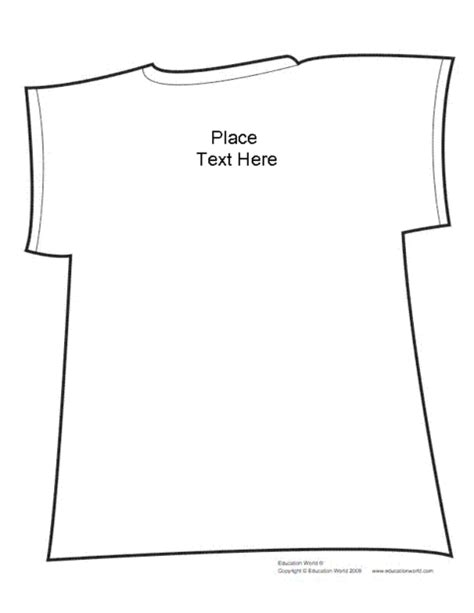 t shirt shapebook unlined template pdf education world