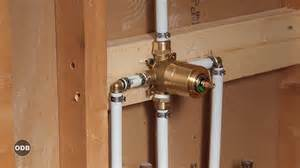 Shower Bath Video how to install copper to pex shower and bath plumbing doovi