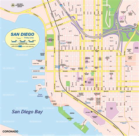 san diego on map of usa map of san diego city in united states welt atlas de