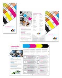 print brochure templates printing company tri fold brochure template