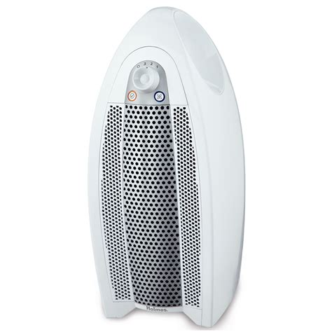 aer1 mini tower air purifier with hepa type filter optional ionizer white hap9414 nua