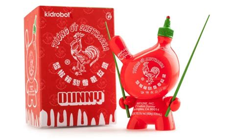sriracha bottle back bearbrick team yellow