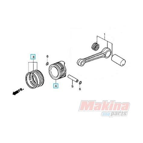 Ring Piston Innova Bensin Oversize 05 Ori 1 13105ktm305 piston rings set 1 00 oversize honda anf 125 innova