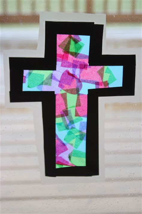 Stained Glass Craft Tissue Paper - kara s creative place stained glass tissue paper cross