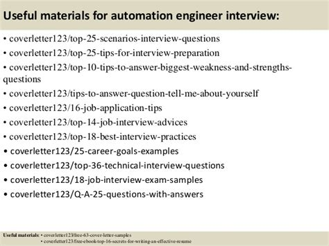Automation Engineer Cover Letter by Top 5 Automation Engineer Cover Letter Sles