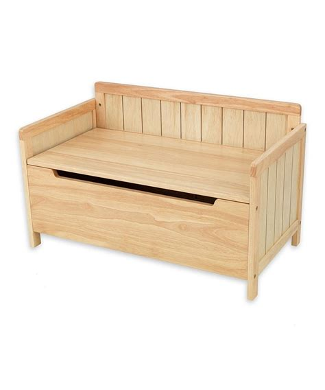 wooden toy bench natural charleston toy chest