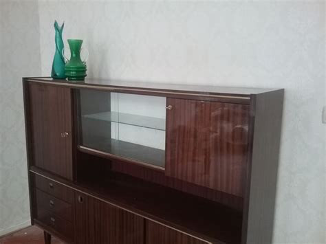 Wall Unit Display Cabinet by Designer Unknown Vintage Rosewood Wall Unit Display