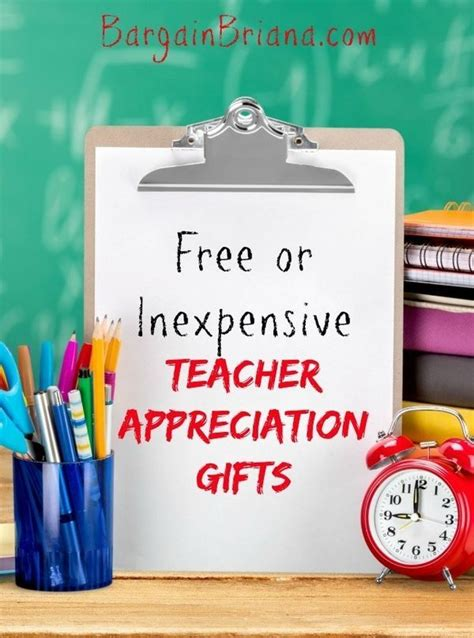 5 inexpensive back to school gifts for teachers free or inexpensive appreciation gifts kid the