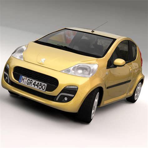 peugeot car models list peugeot 107 2012 3d model max obj ma mb cgtrader com