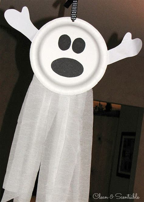 ghost craft for preschool crafts for simple paper plate