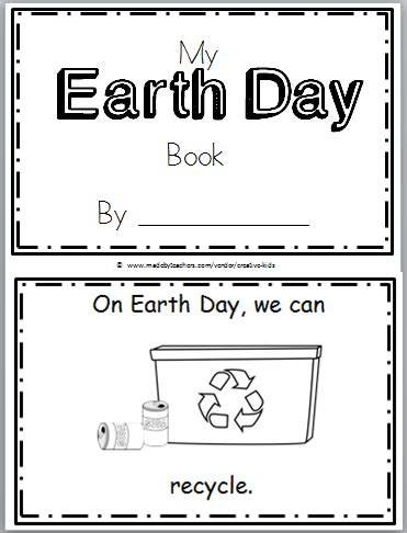 free earth day mini book for kindergarten earth day