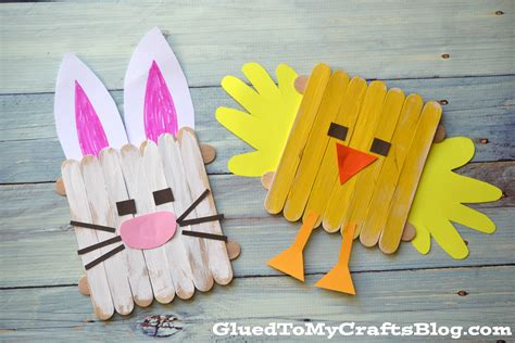 with craft sticks popsicle stick easter friends kid craft
