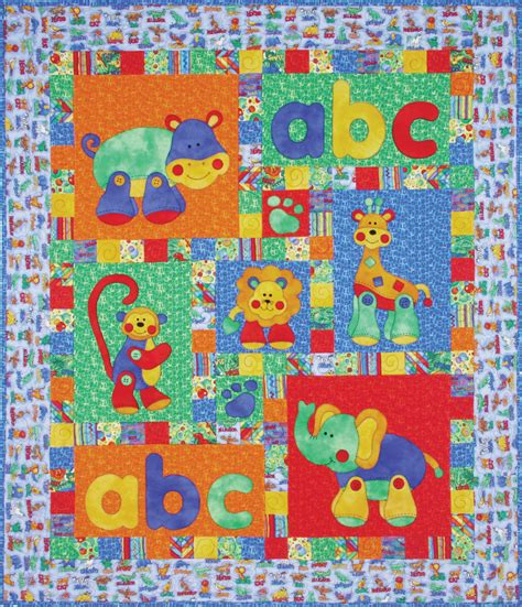Applique Quilt Patterns Quilts Alphabet Jungle Applique Quilt Pattern Ebay