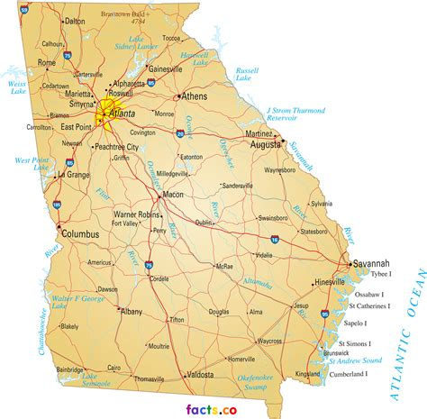 map of georgia cities cities in georgia usa georgia maps political physical cities and blank outline