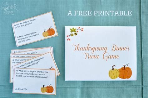 printable thanksgiving trivia cards a free printable trivia game perfect for adding a little