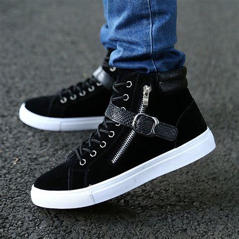 mens high fashion sneakers fashion mens style high top high korean casual