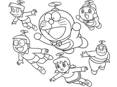 Doraemon And Friends Hitam by 75 Gambar Doraemon Lucu Bersama Nobita Shizuka Jayen