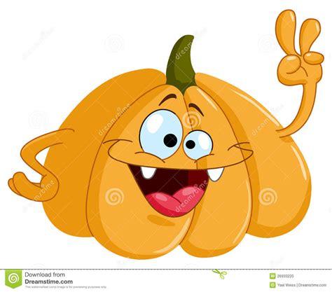 cartoon pumpkin stock vector image  funky hand icon