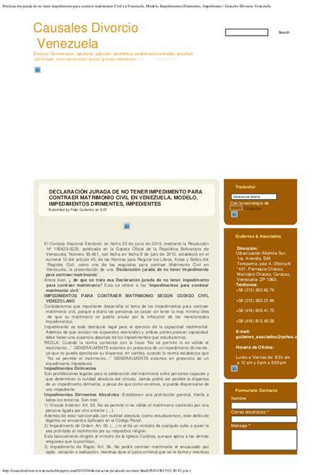 declaracion jurada de matrimonio declaracion jurada de matrimonio newhairstylesformen2014 com